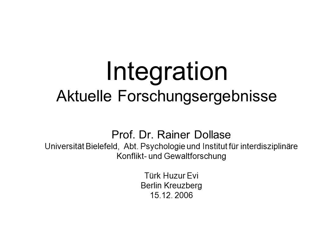 Integration Aktuelle Forschungsergebnisse
