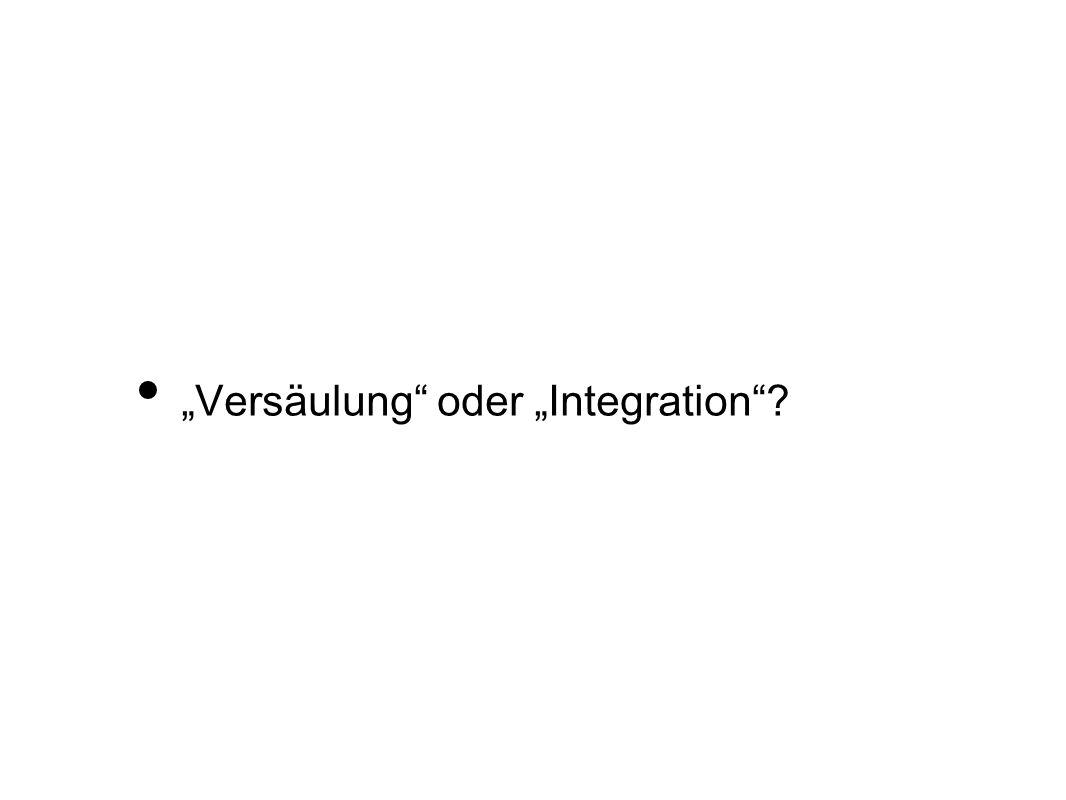 """""""Versäulung oder """"Integration"""