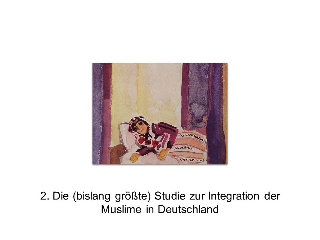 2. Die (bislang größte) Studie zur Integration der Muslime in Deutschland