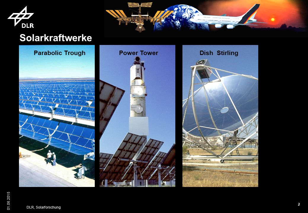Solarkraftwerke Parabolic Trough Power Tower Dish Stirling