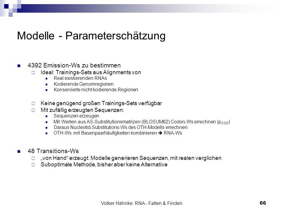 Modelle - Parameterschätzung