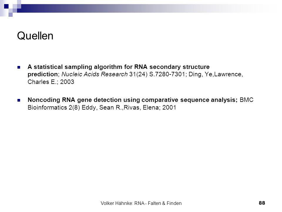 Volker Hähnke: RNA - Falten & Finden