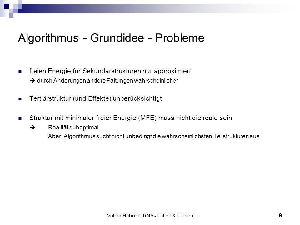 Algorithmus - Grundidee - Probleme