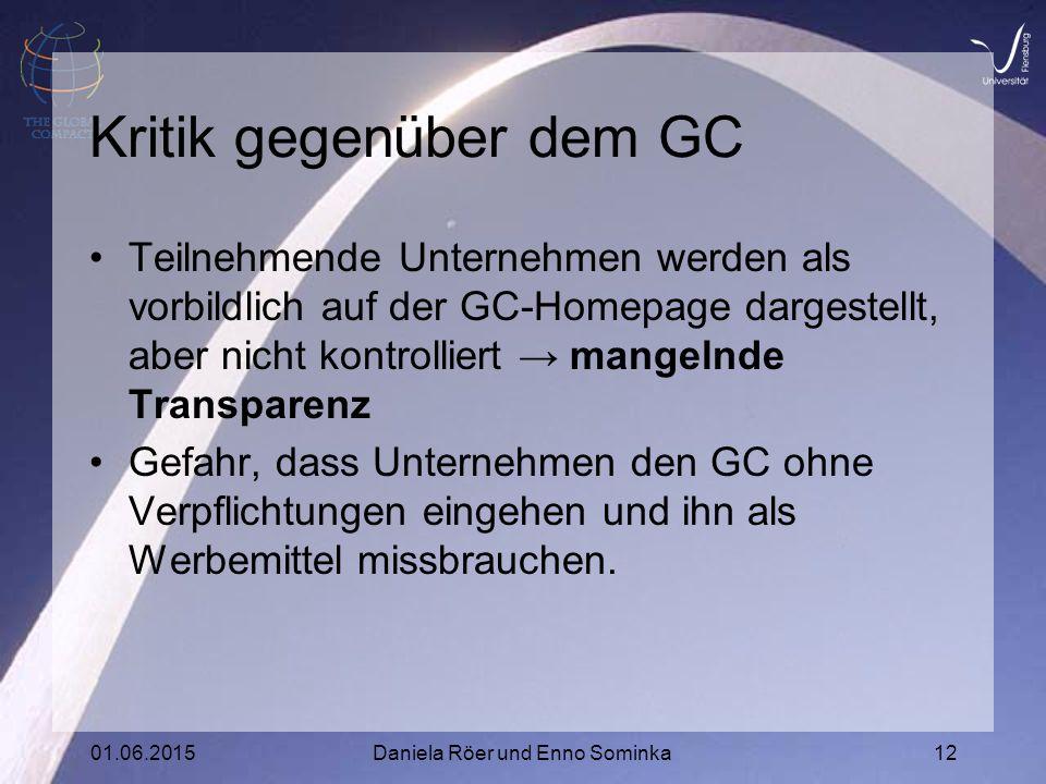 Kritik gegenüber dem GC