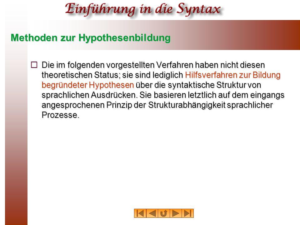 Methoden zur Hypothesenbildung