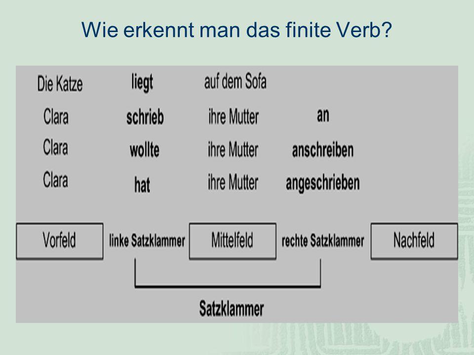 Wie erkennt man das finite Verb