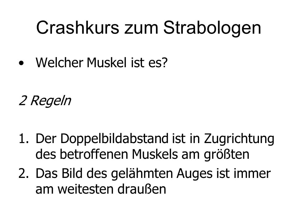 Crashkurs zum Strabologen