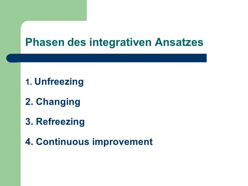 Phasen des integrativen Ansatzes