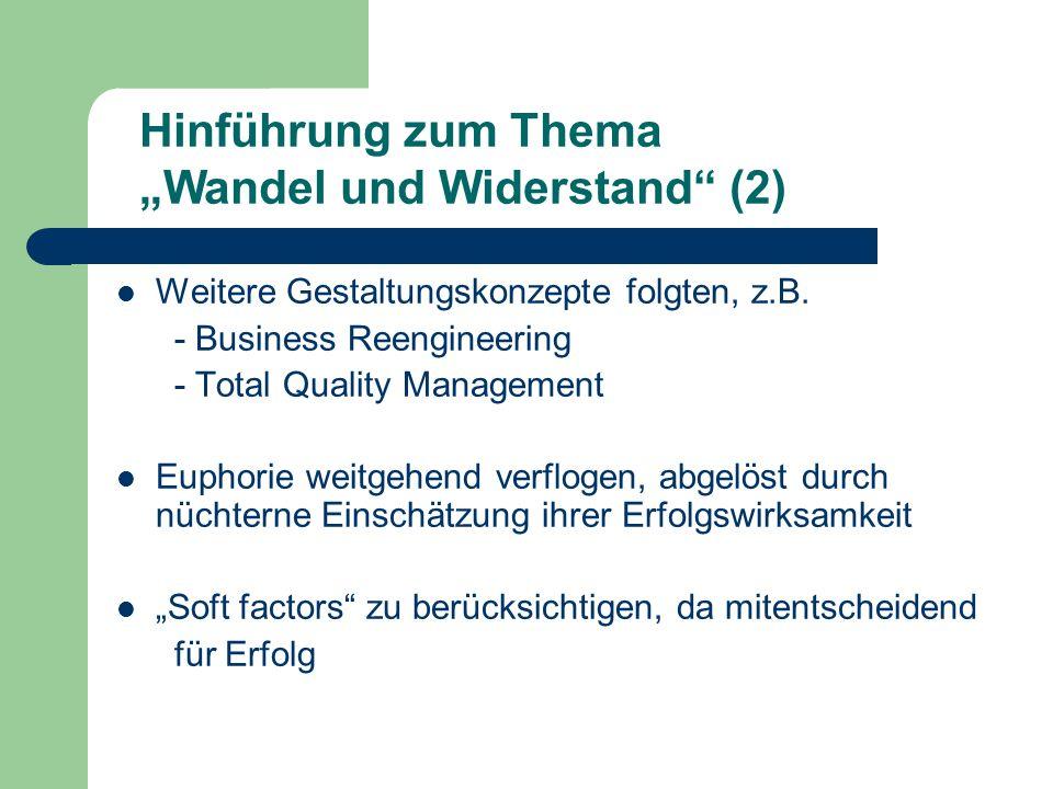 """Hinführung zum Thema """"Wandel und Widerstand (2)"""