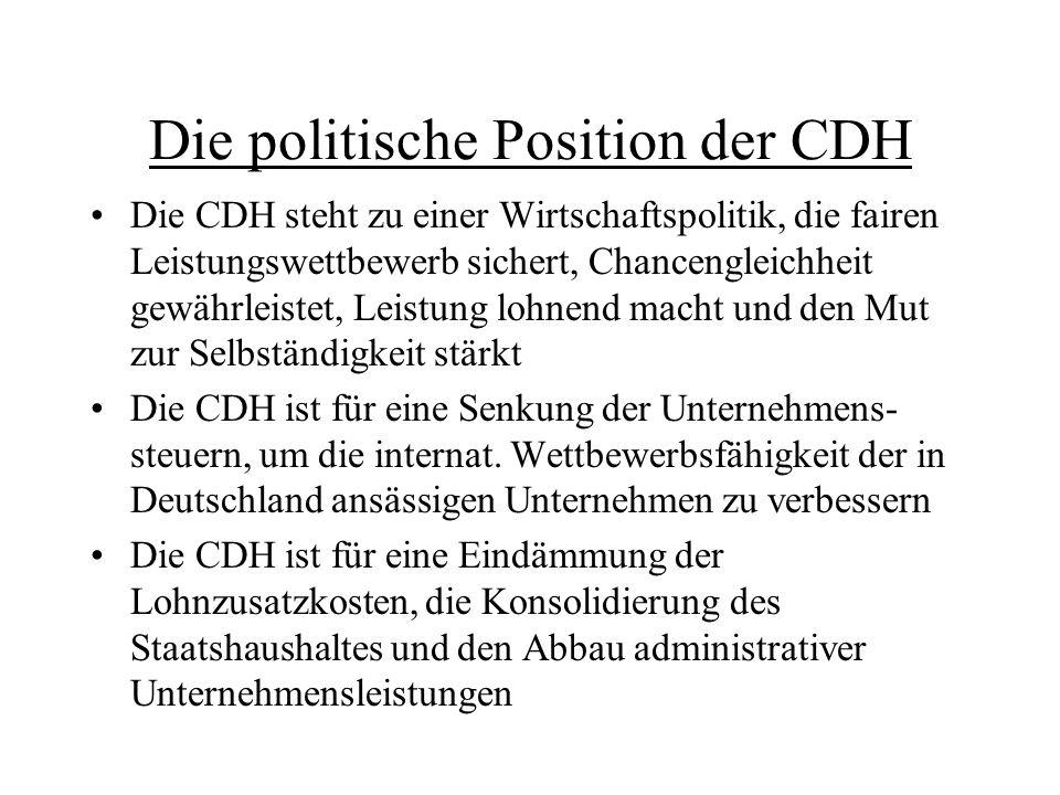 Die politische Position der CDH