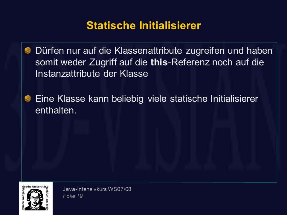 Statische Initialisierer