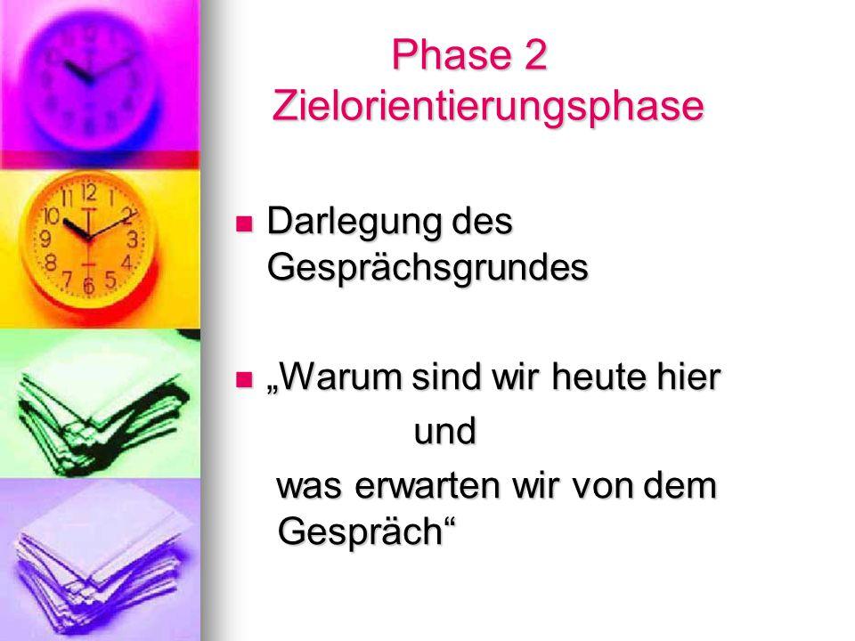 Phase 2 Zielorientierungsphase