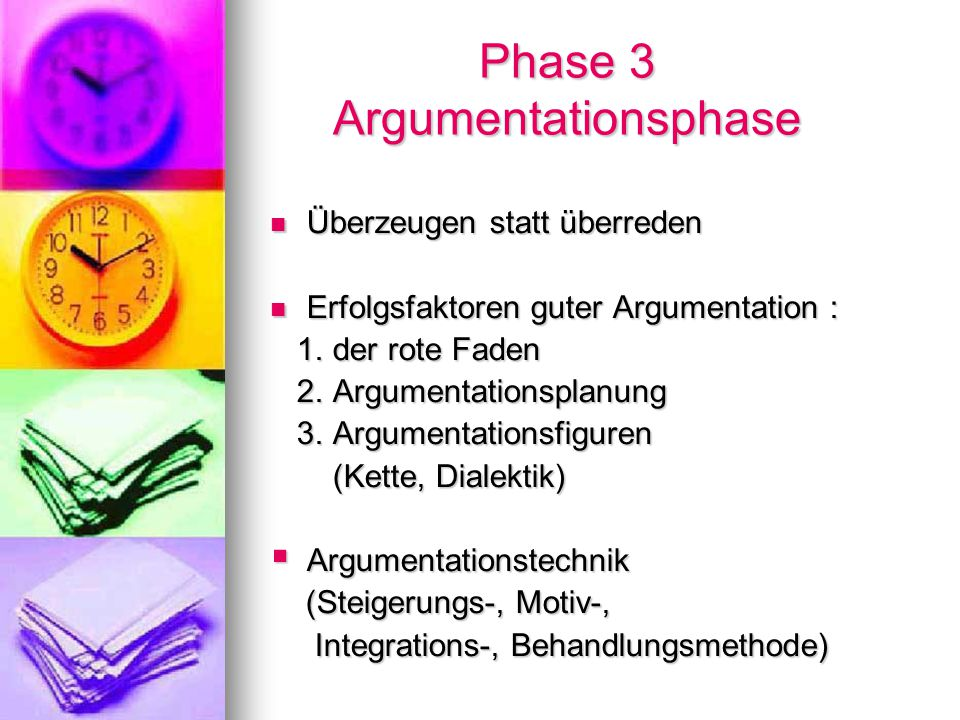 Phase 3 Argumentationsphase