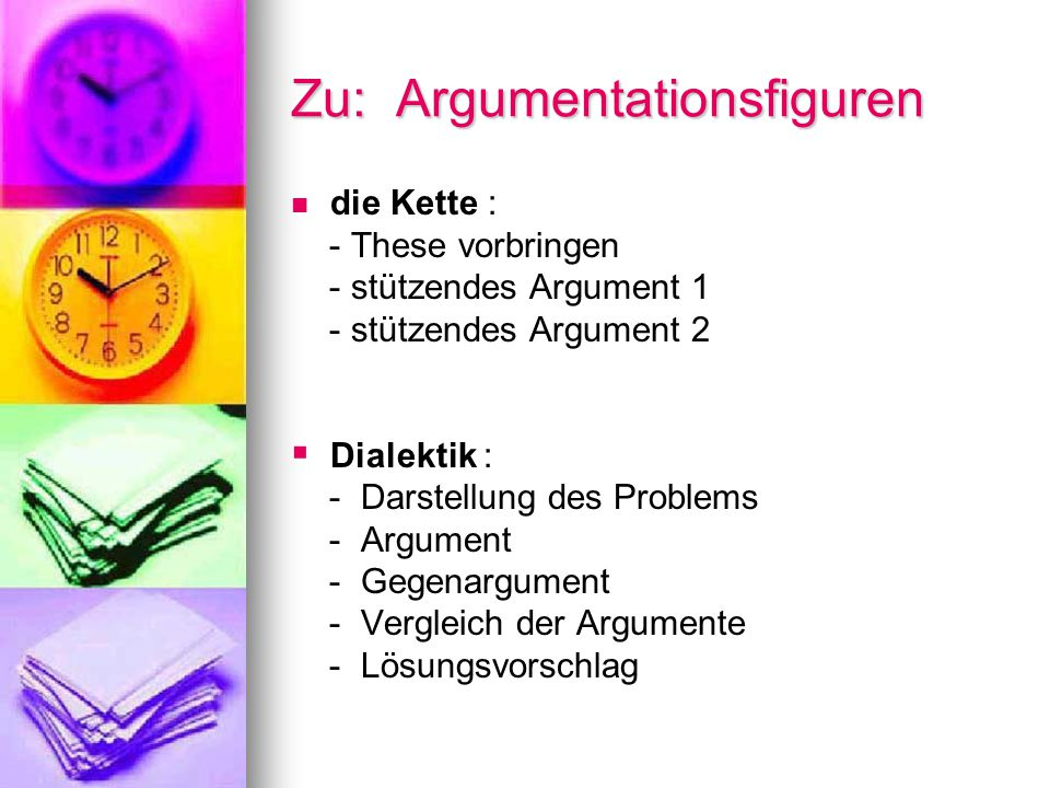 Zu: Argumentationsfiguren