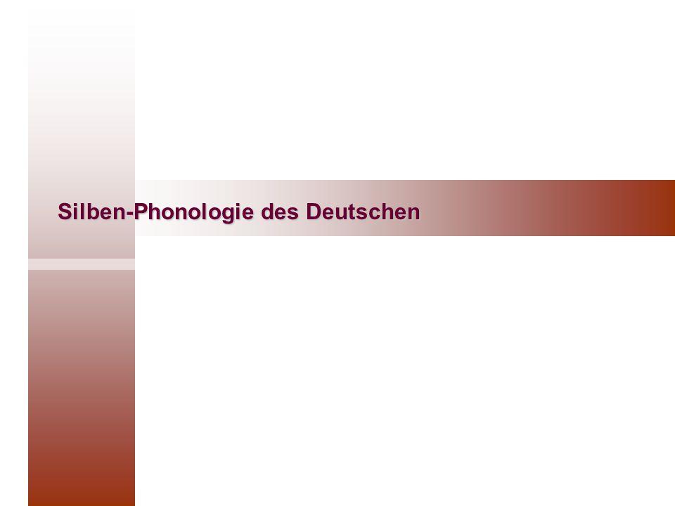 Silben-Phonologie des Deutschen