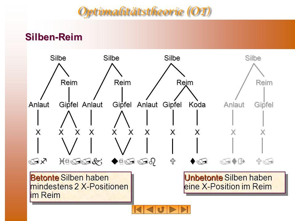 Silben-Reim /f iù/ /k uù/ /b U t/ /tƒs U/