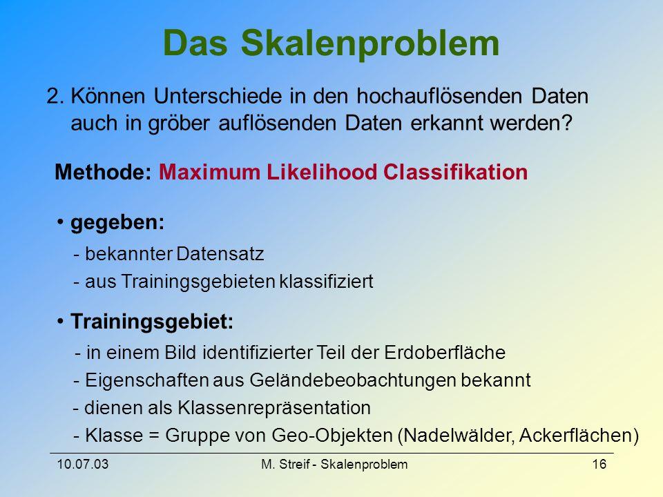 Das Skalenproblem 2. Können Unterschiede in den hochauflösenden Daten