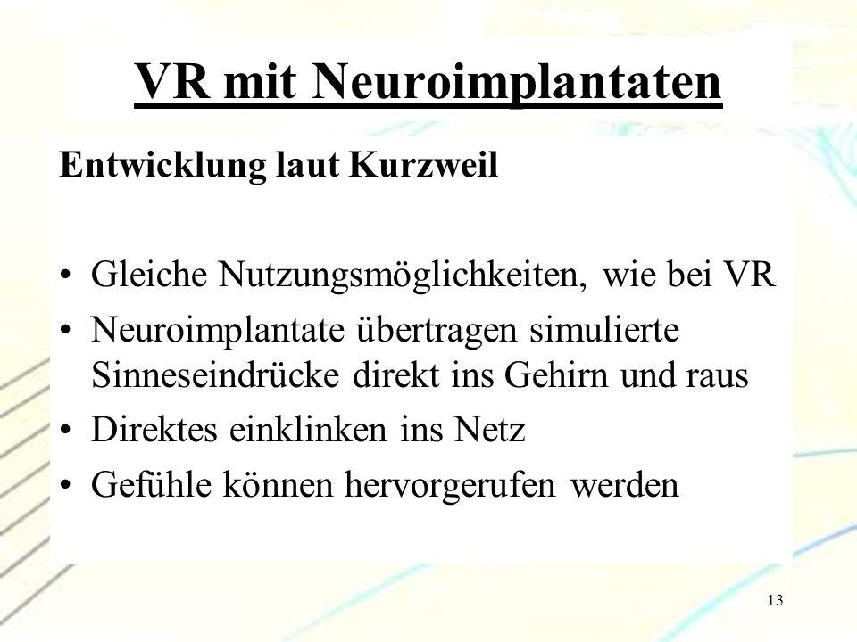 VR mit Neuroimplantaten