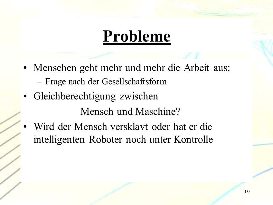 Probleme Menschen geht mehr und mehr die Arbeit aus: