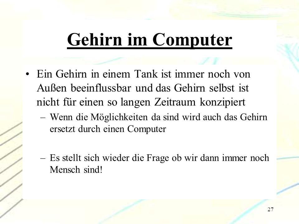 Gehirn im Computer