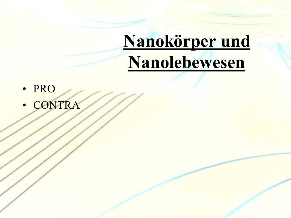 Nanokörper und Nanolebewesen