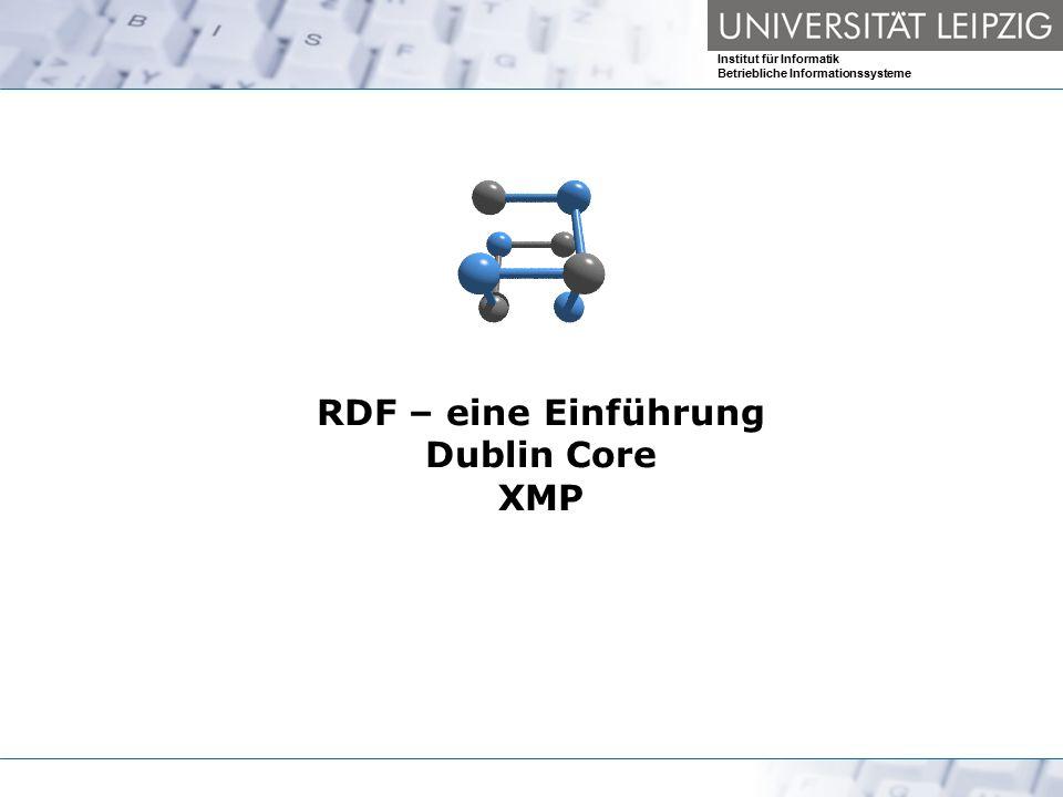 RDF – eine Einführung Dublin Core XMP