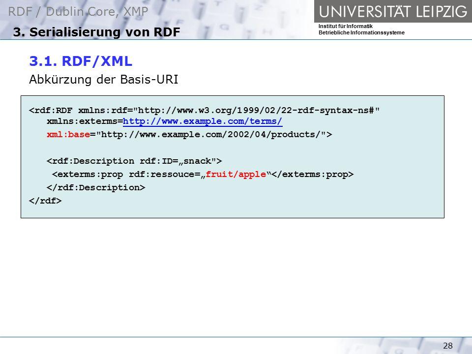 3. Serialisierung von RDF