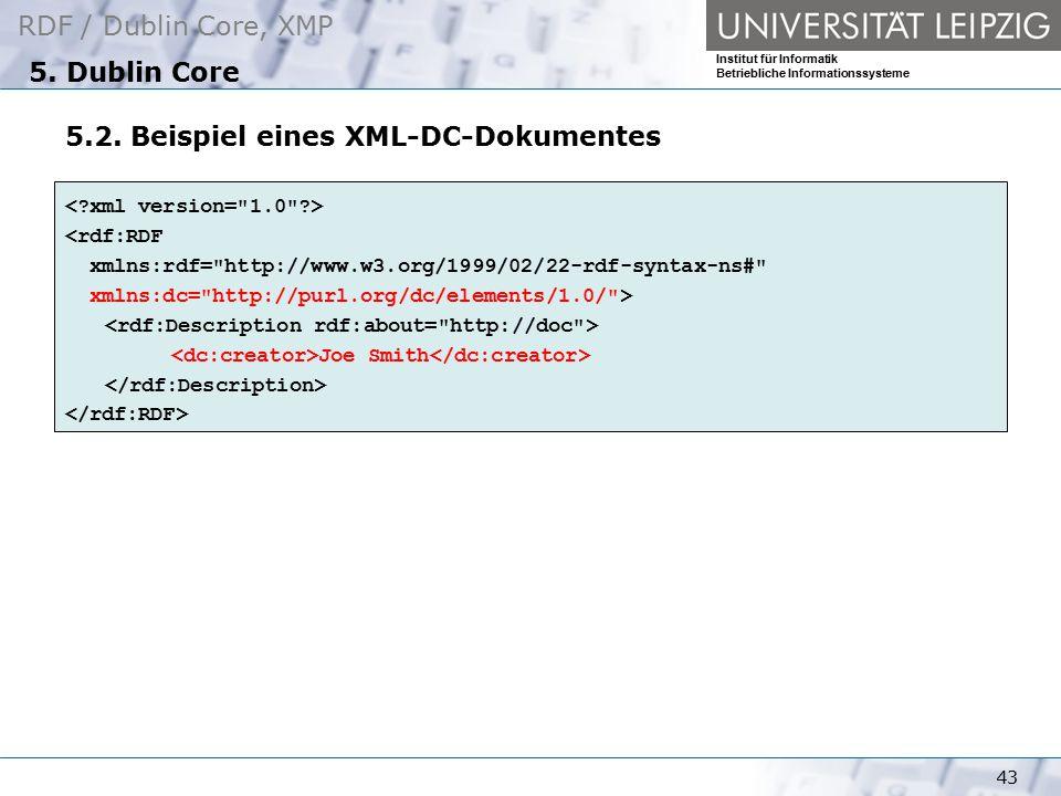 5.2. Beispiel eines XML-DC-Dokumentes