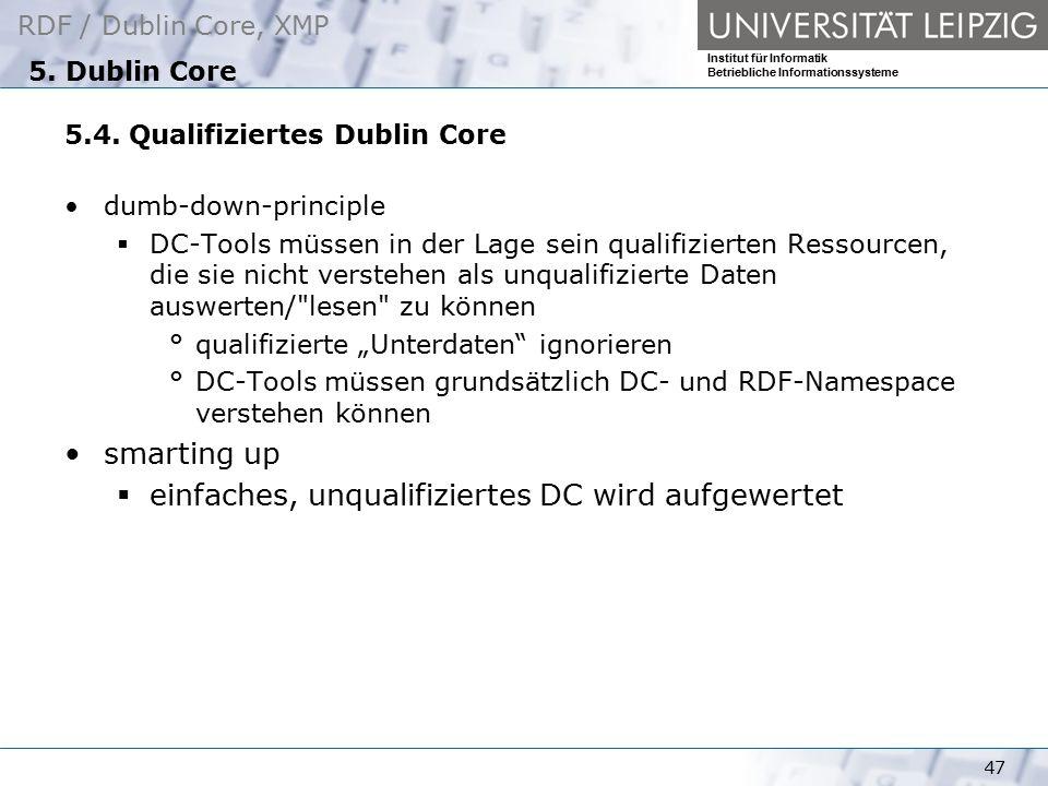 einfaches, unqualifiziertes DC wird aufgewertet