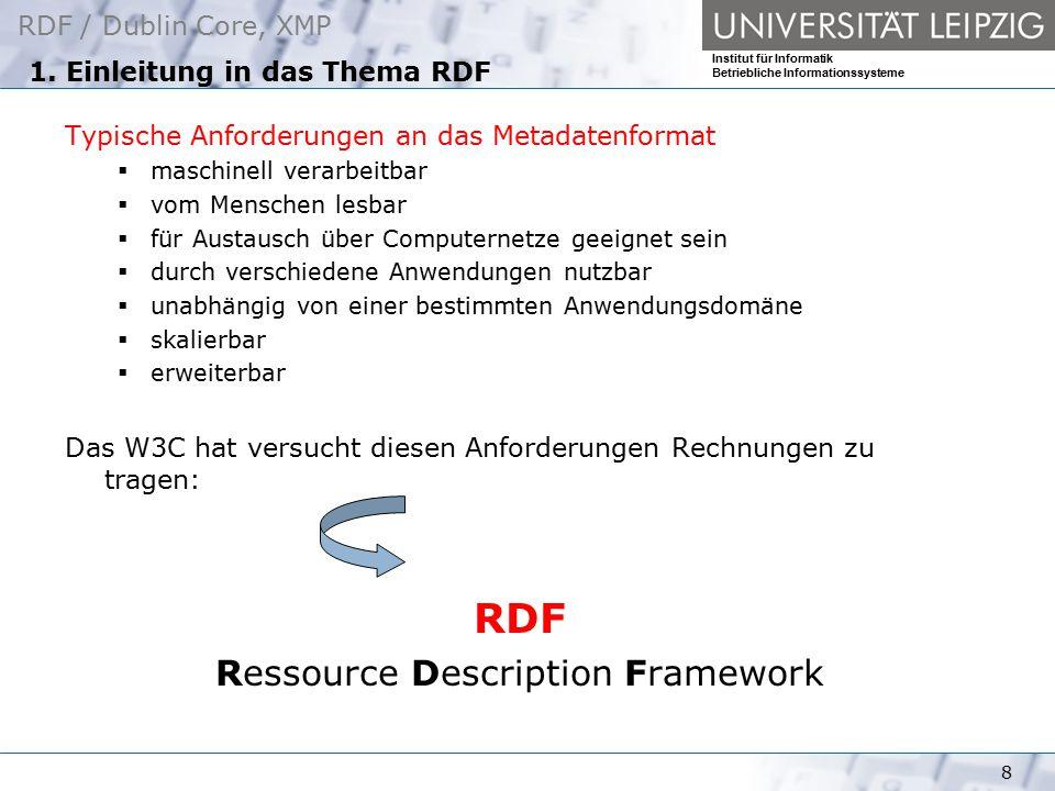 1. Einleitung in das Thema RDF