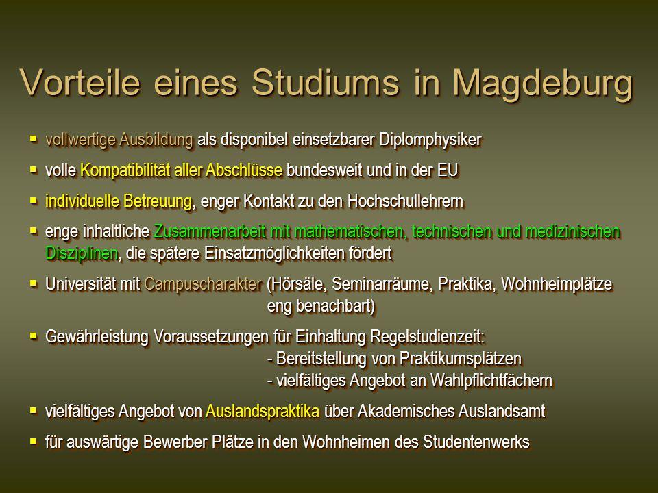Vorteile eines Studiums in Magdeburg
