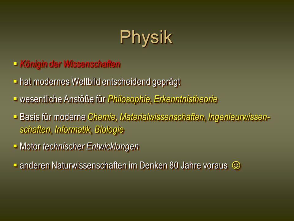 Physik Königin der Wissenschaften