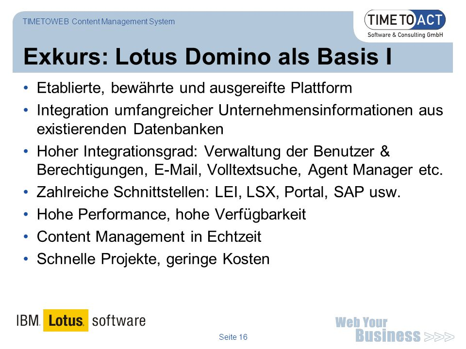 Exkurs: Lotus Domino als Basis I