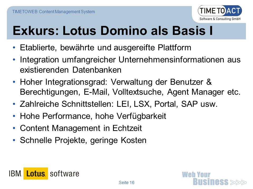 Exkurs: Lotus Domino als Basis I