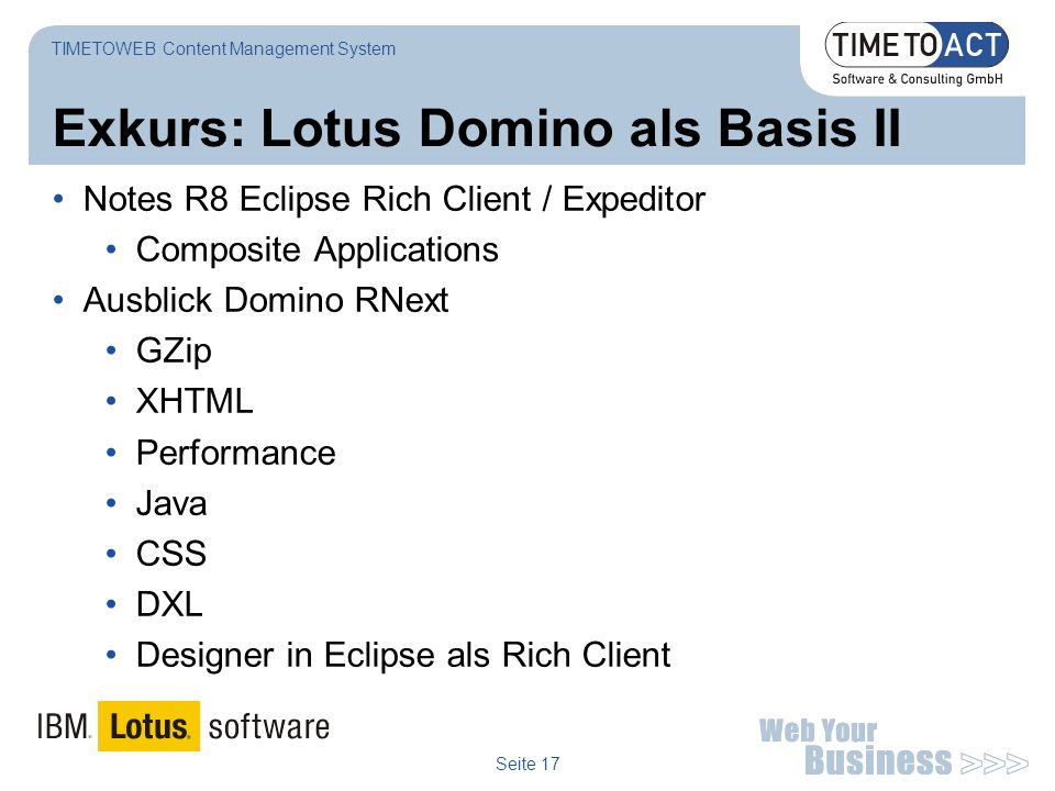 Exkurs: Lotus Domino als Basis II