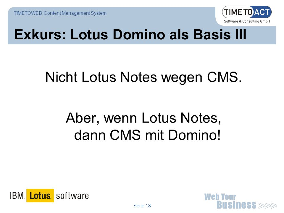 Exkurs: Lotus Domino als Basis III