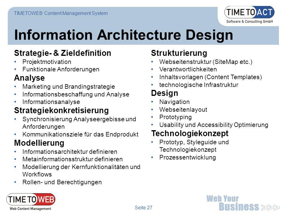 Information Architecture Design