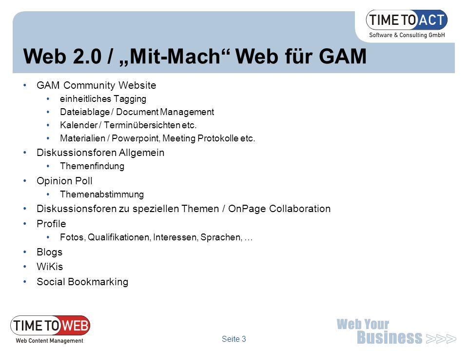 """Web 2.0 / """"Mit-Mach Web für GAM"""