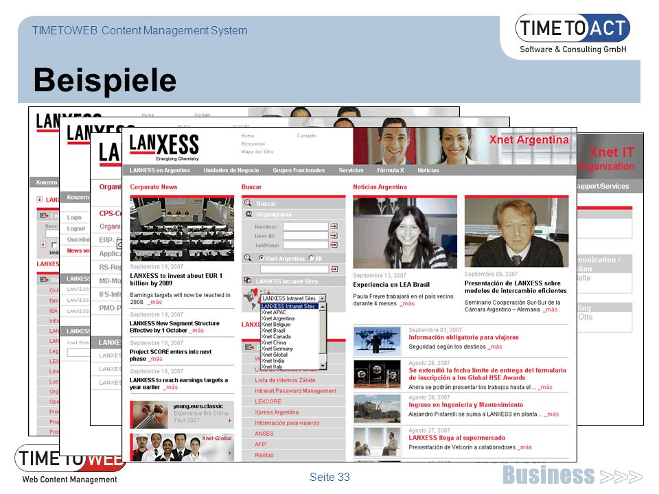TIMETOWEB Content Management System