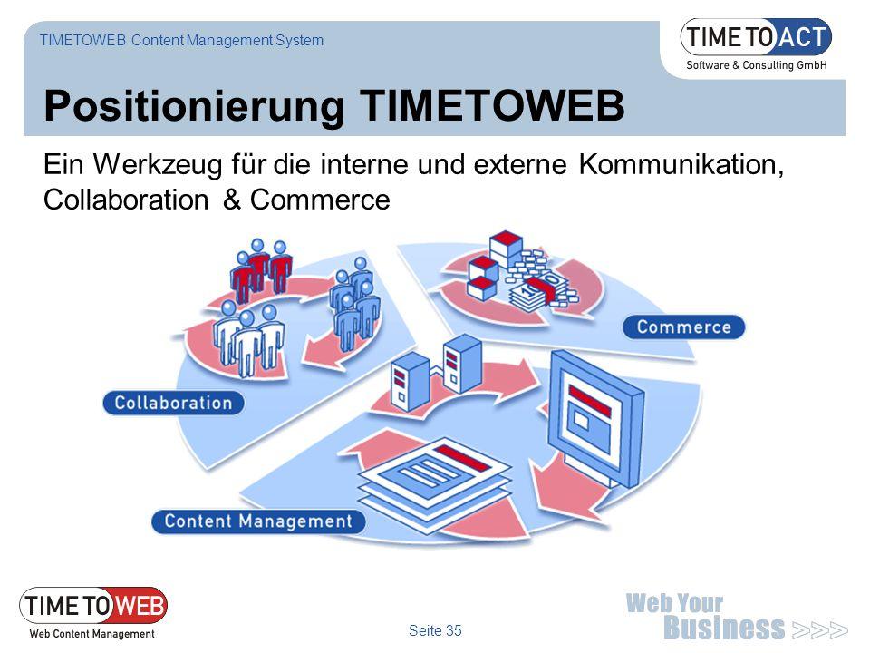 Positionierung TIMETOWEB