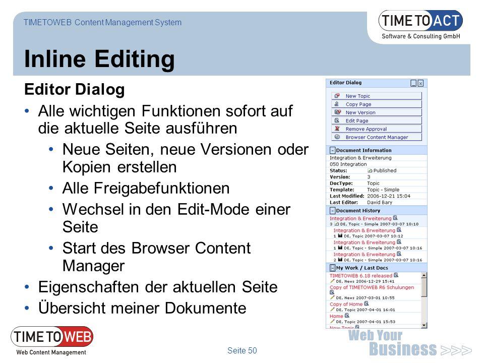 Inline Editing Editor Dialog