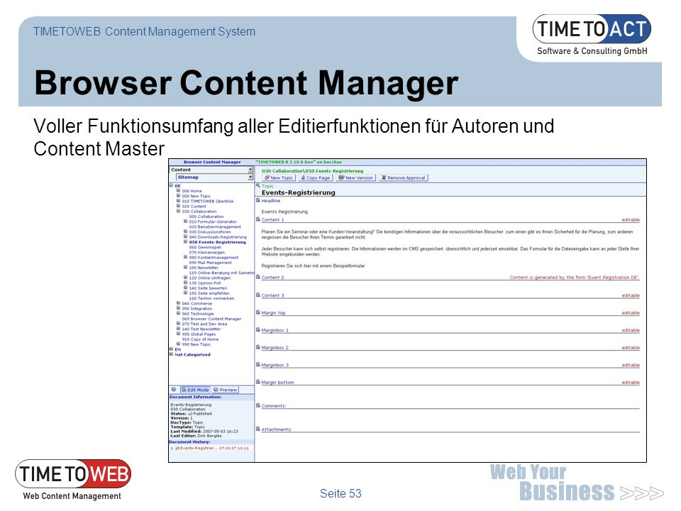 Browser Content Manager