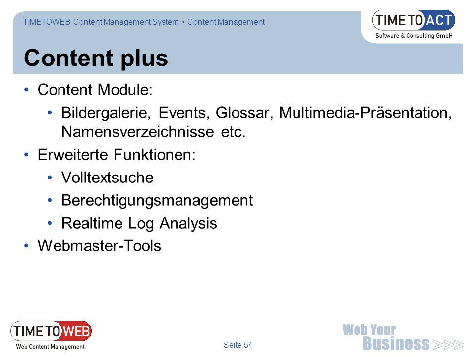 Content plus Content Module: