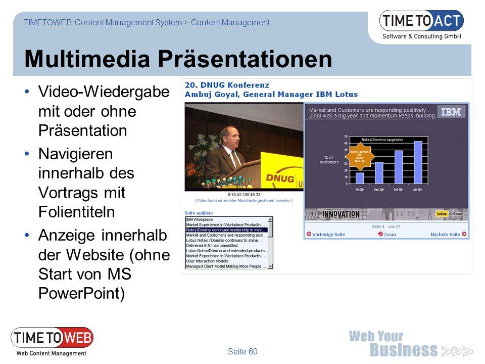 Multimedia Präsentationen