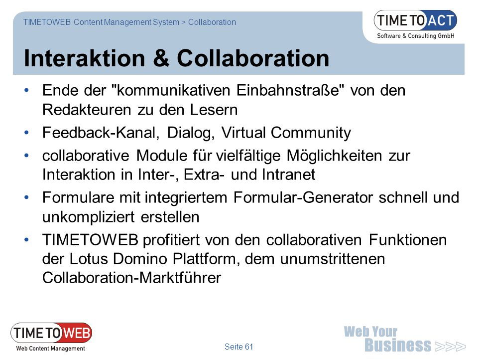 Interaktion & Collaboration