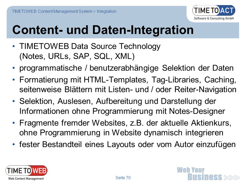 Content- und Daten-Integration