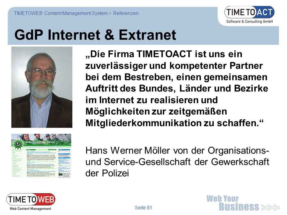 GdP Internet & Extranet