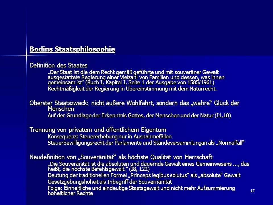 Bodins Staatsphilosophie