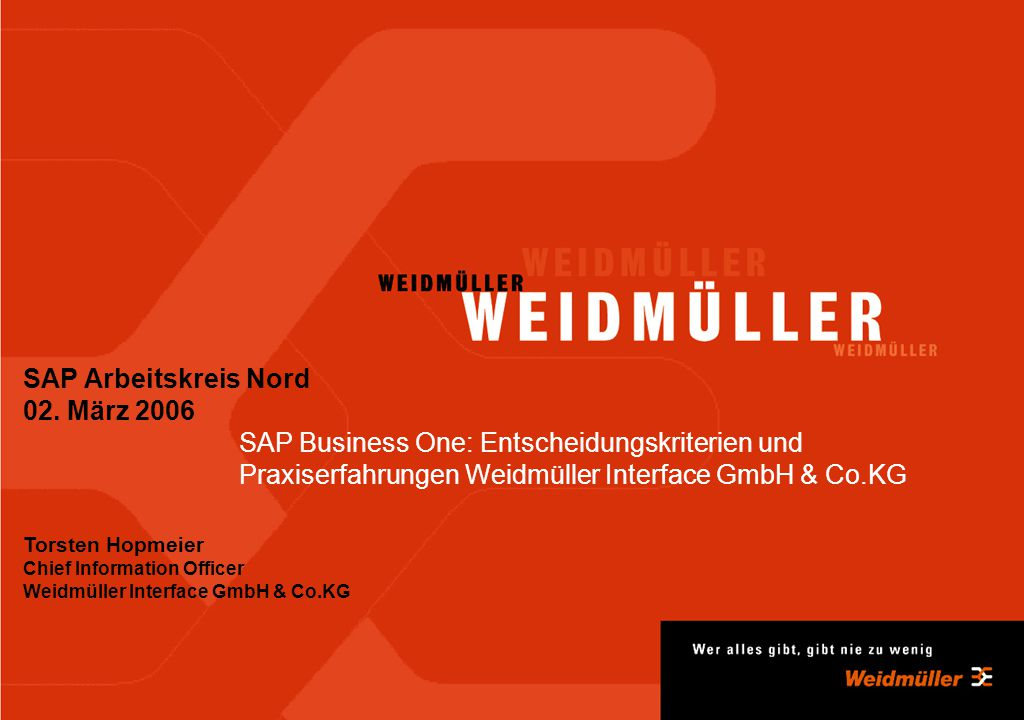 SAP Arbeitskreis Nord 02. März 2006