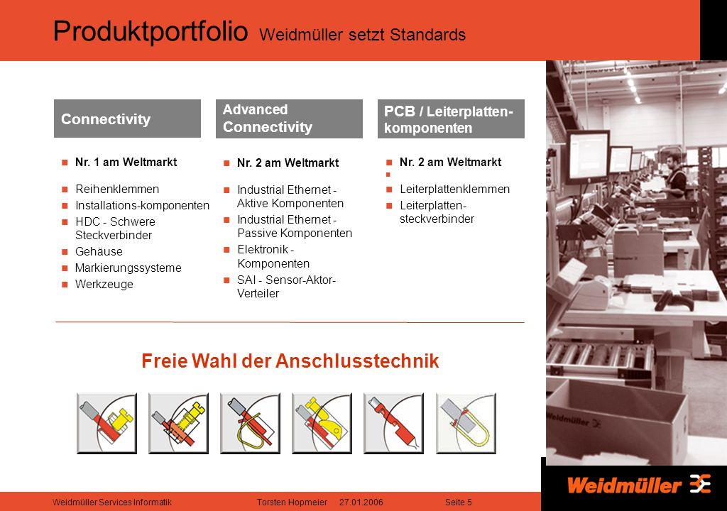 Produktportfolio Weidmüller setzt Standards